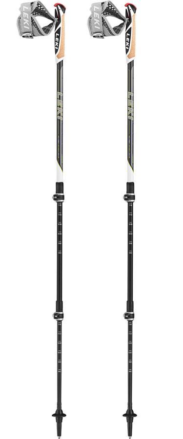 Leki Traveller Carbon Adjustable Nordic Walking Poles, Black