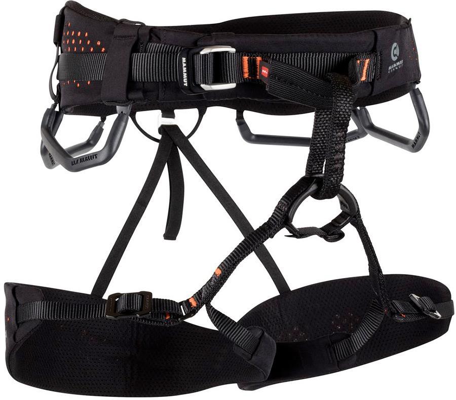 Mammut Comfort Fast Adjust Men's Rock Climbing Harness L Black/Orange