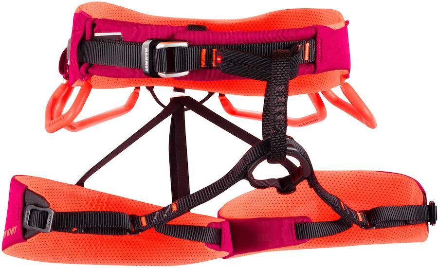 Mammut Comfort Knit Fast Adjust Women's Climbing Harness, XS Sundown