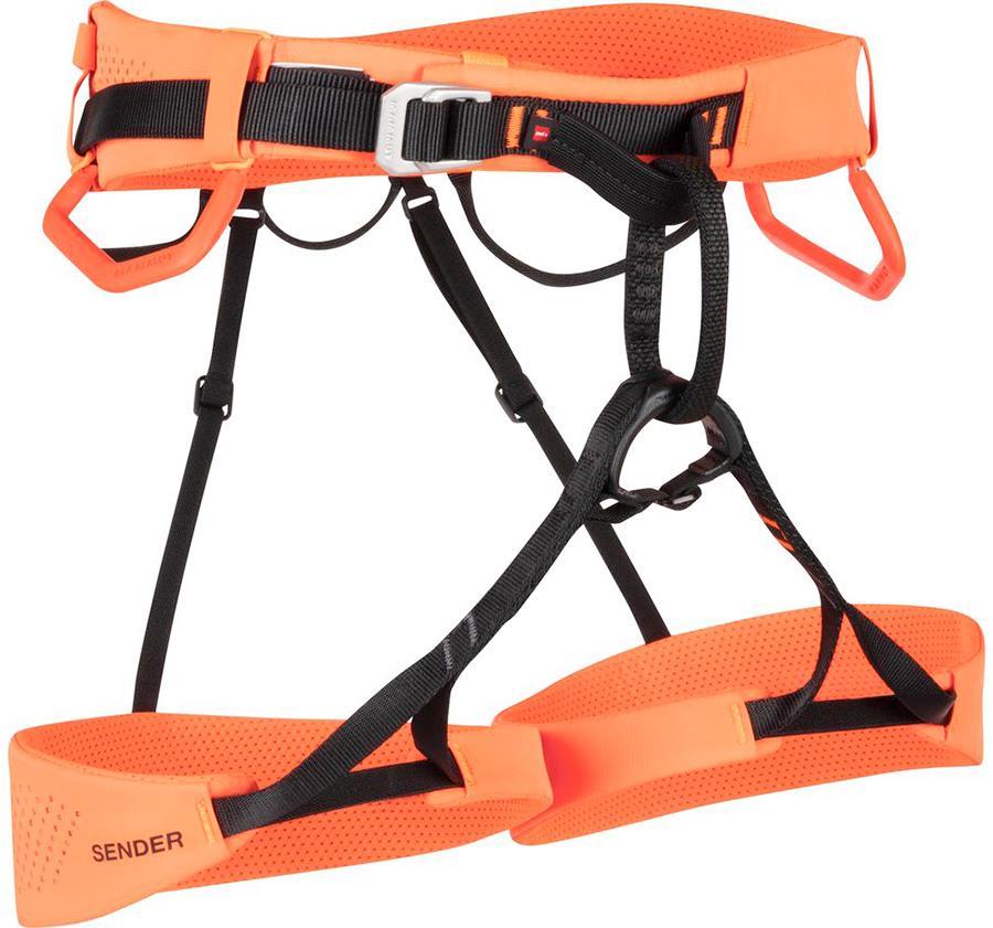 Mammut Sender Harness Rock Climbing Harness, XS Safety Orange