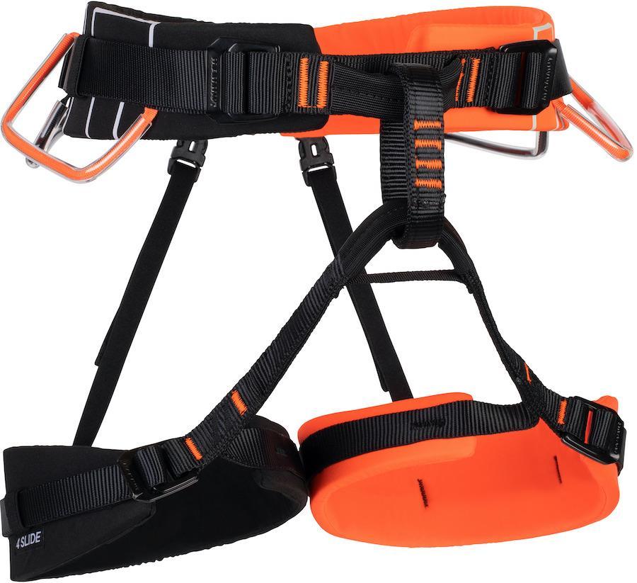 Mammut 4 Slide Rock Climbing Harness, M-XL Vibrant Orange-Black