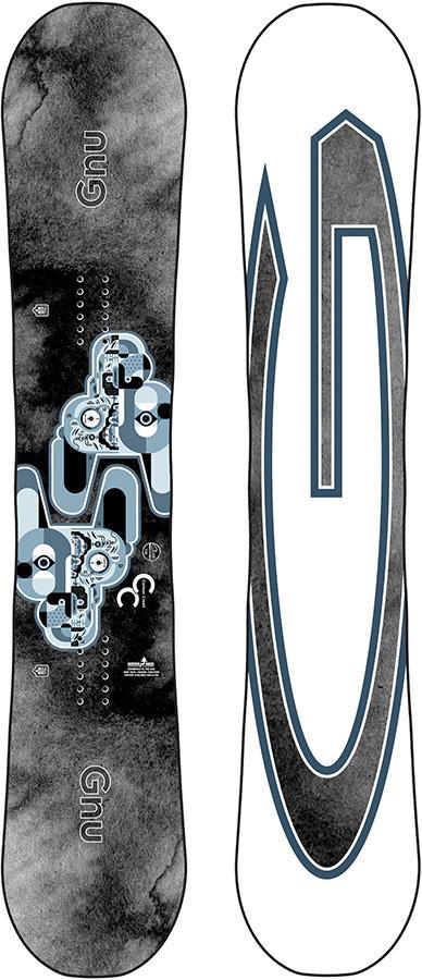 GNU Carbon Credit Asym Hybrid Camber Snowboard, 156cm 2021