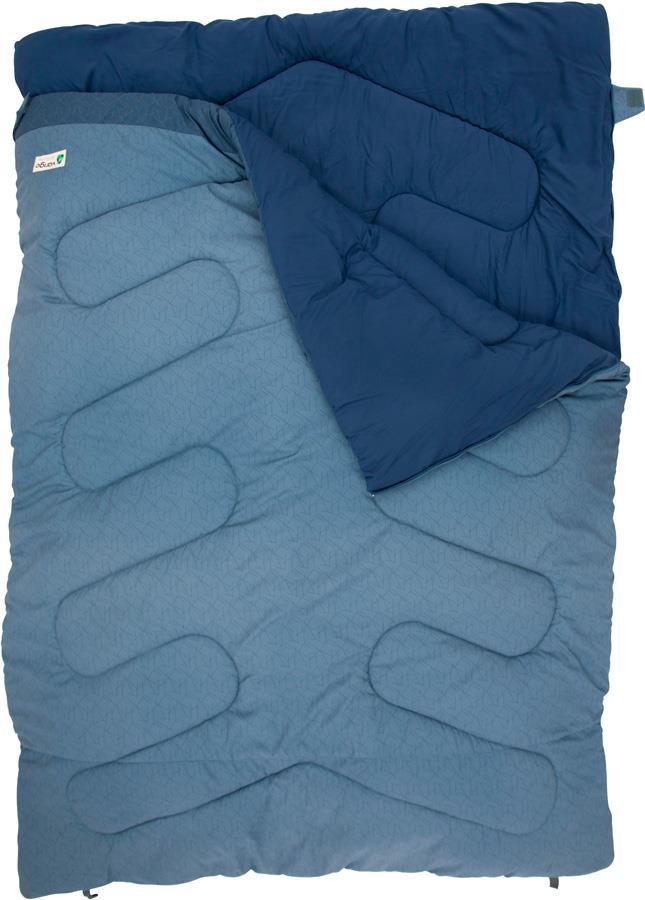 Vango Era Double Camping Sleeping Bag, 2-Person Bluestone