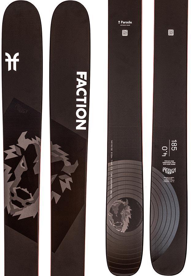 Faction Prodigy 4.0 Ski Only Skis, 191cm Black
