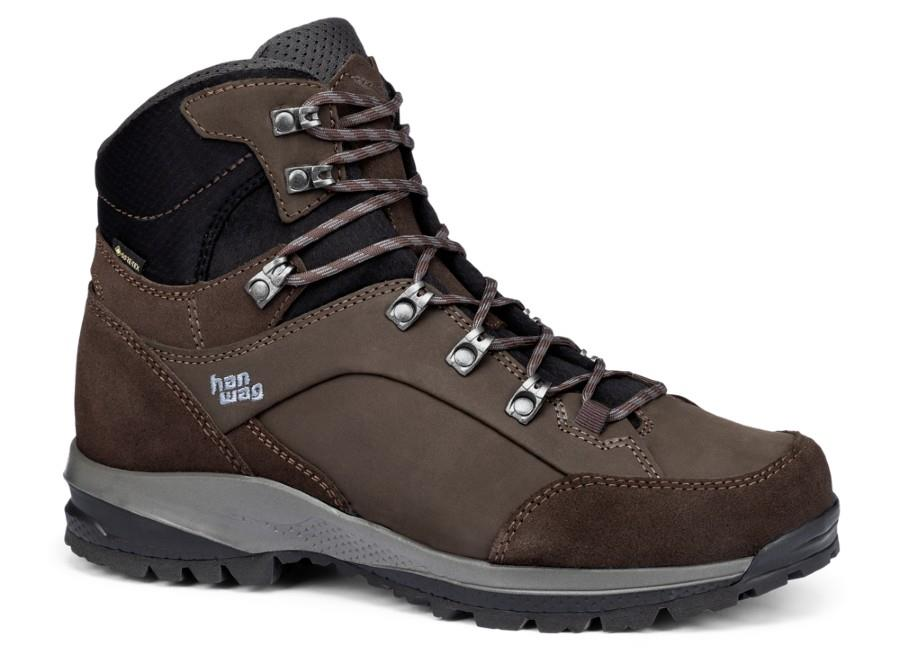 Hanwag Banks SF Extra GTX Hiking Boots UK 12 Mocca/Asphalt