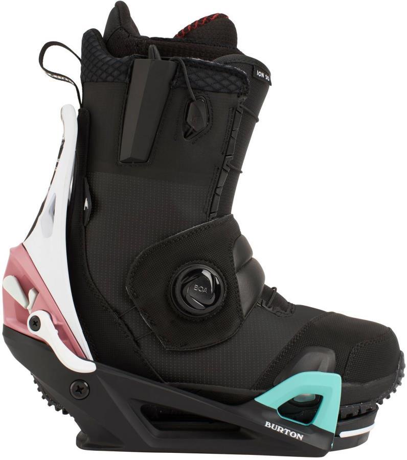 Burton Ion Step On Snowboard Binding & Boots, UK 10.5 Black/Multi 2021