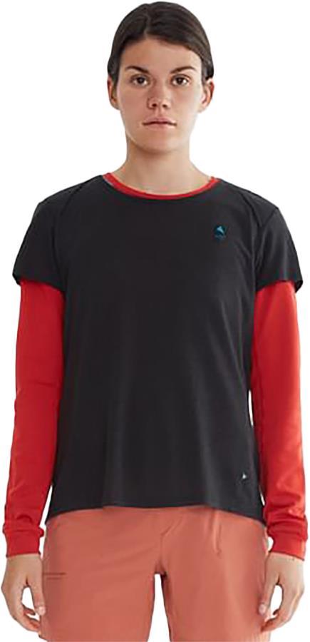 Klattermusen Vile Women's Short Sleeve Tencel® T-Shirt, UK 12 Raven