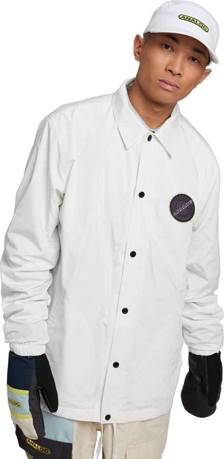 Analog Adult Unisex Sparkwave Coaches Ski/Snowboard Jacket, S Stout White