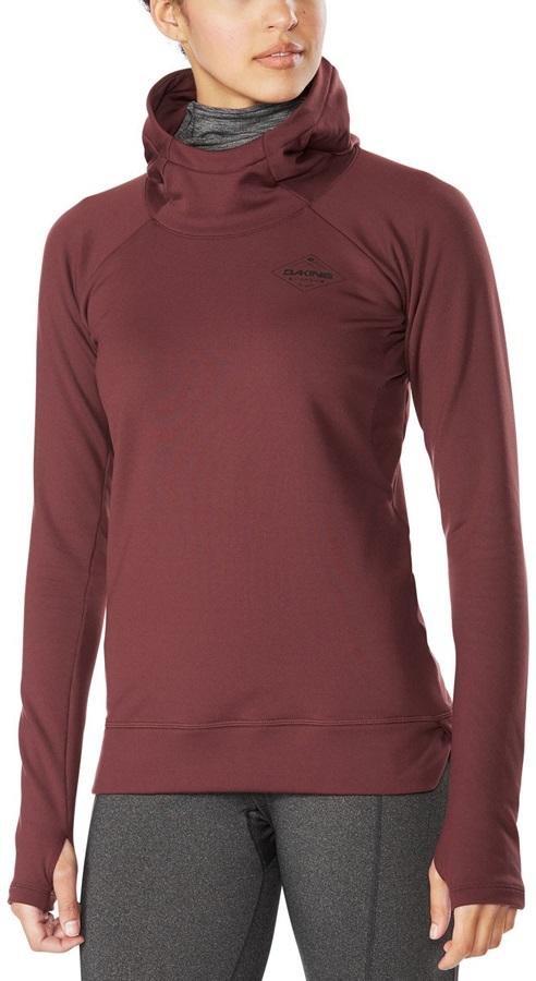 Dakine Callahan Long Sleeve Women's Hooded Fleece Top, L Amethyst