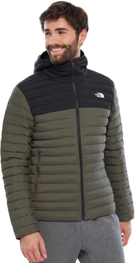 The North Face Stretch Down Insulated Men's Hooded Jacket, S Green
