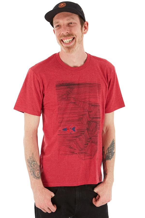 LINE Adult Unisex Skis Pollard Art T Shirt, XL Heather Red