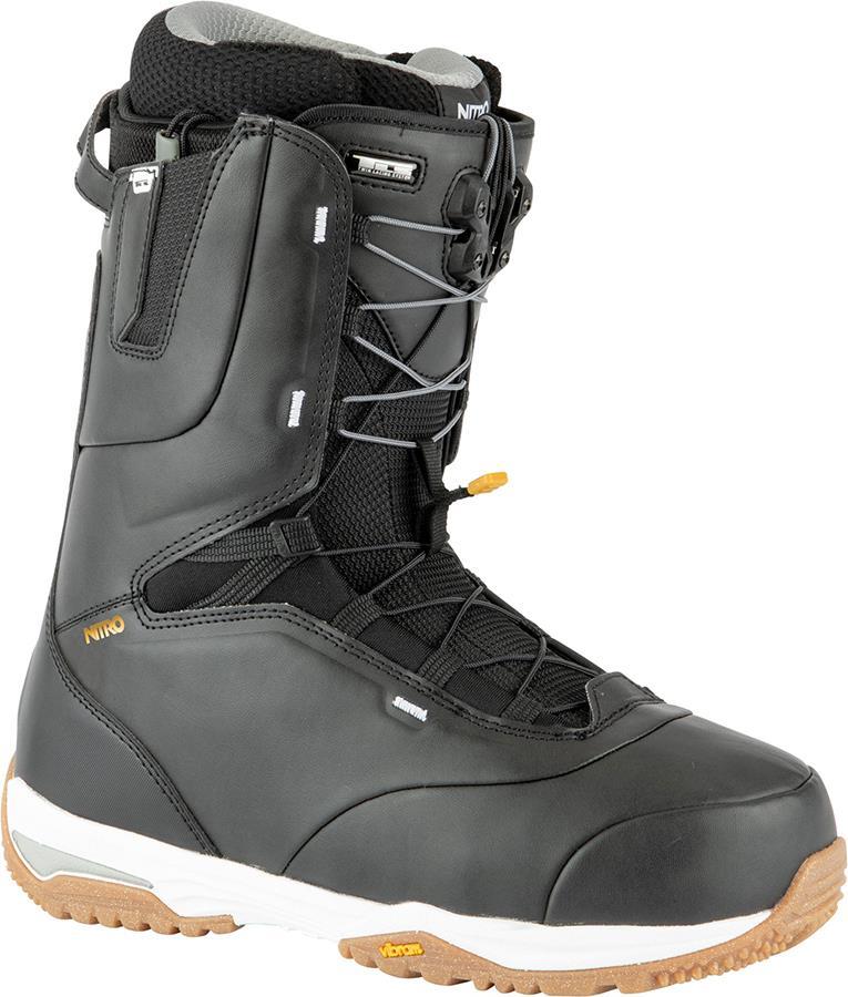 Nitro Venture Pro TLS Snowboard Boots, UK 10 Black/White/Gold 2021