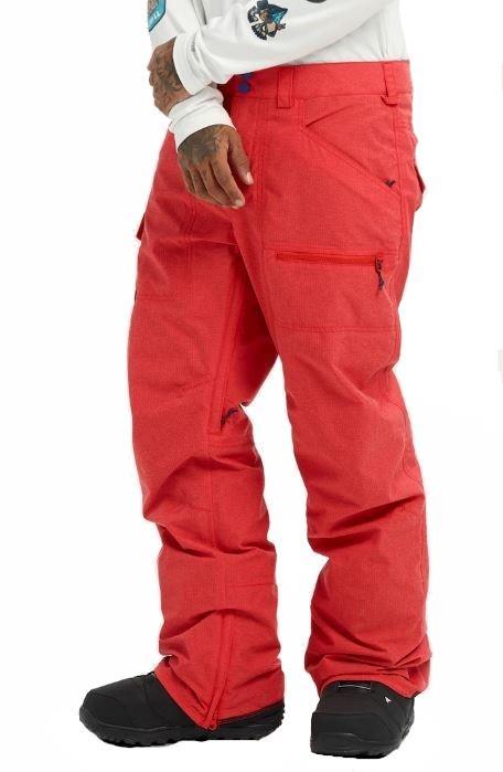 Burton Covert Snowboard/Ski Pants, L Flame Scarlet Ripstop