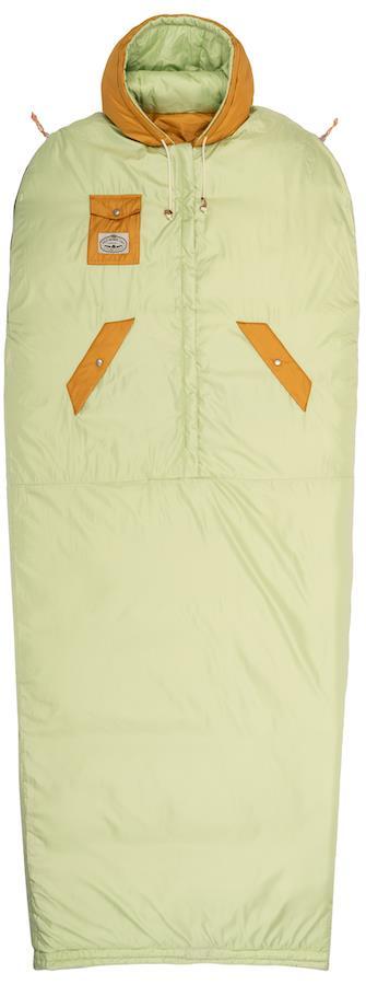 Poler Reversible Napsack Jacket/Sleeping Bag, L Cucumber/Tea