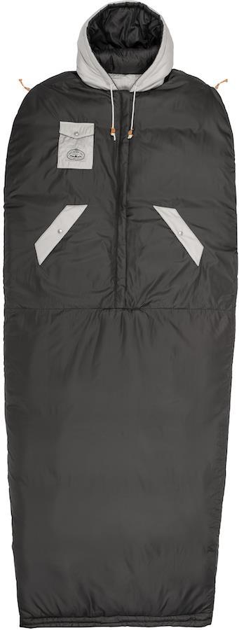 Poler Reversible Napsack Jacket/Sleeping Bag, M Sand/Off Black