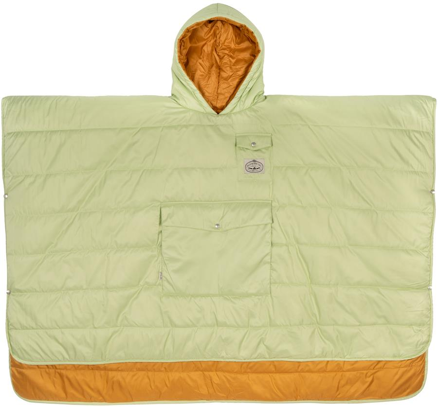 Poler Camp Poncho Reversible Camping Blanket With Hood, Cucumber/Tea