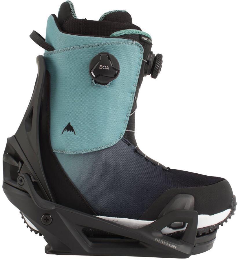 Burton Swath Boa Step On Snowboard Binding & Boots, UK 9.5 Slate 2021
