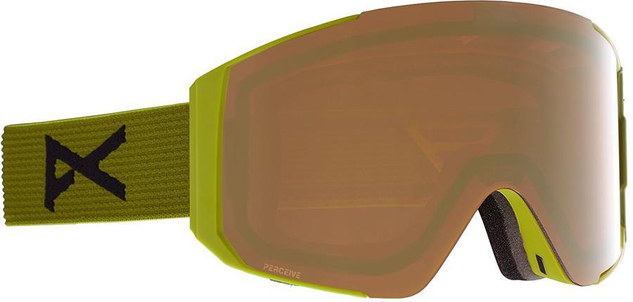 Anon Sync Perceive Sunny Bronze Ski/Snowboard Goggles, M/L Green