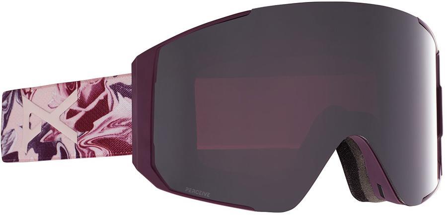 Anon Sync Perceive Sun Onyx Women's Ski/Snowboard Goggles, M/L Wavy