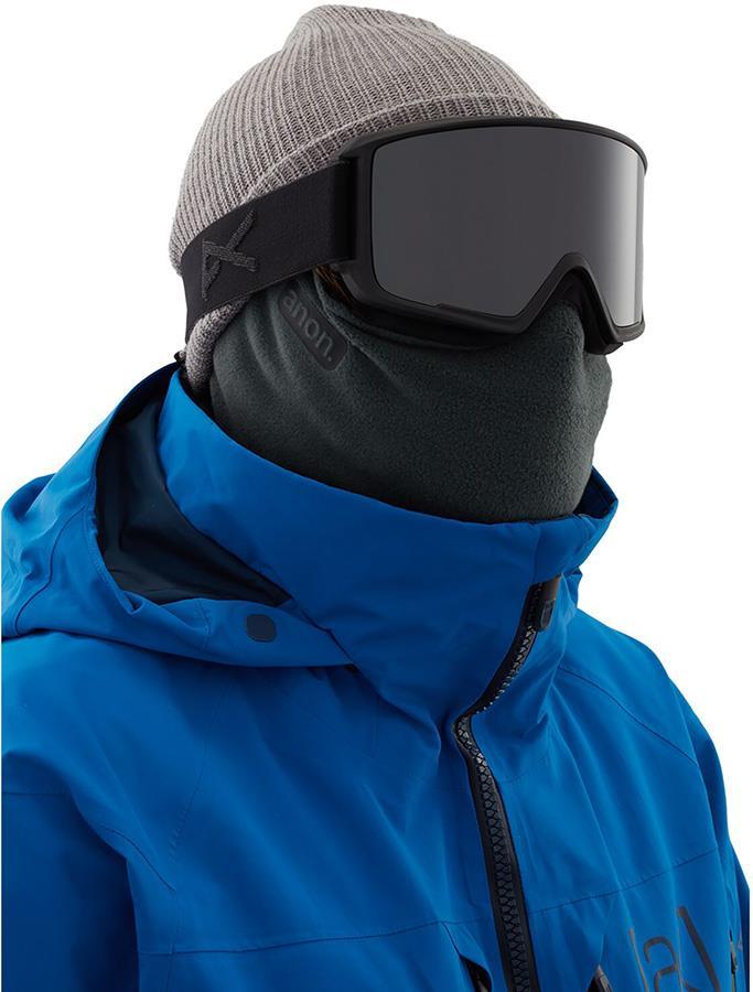 Anon Microfur Neckwarmer MFI Fleece Facemask, Relaxed Fit Grey