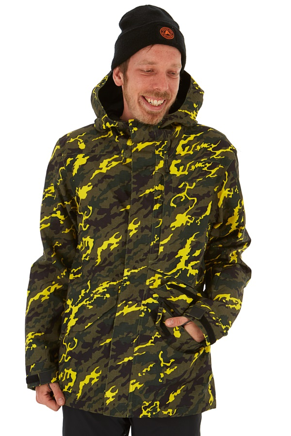 Bonfire Vector Men's Ski/Snowboard Jacket, L Camo Yellow