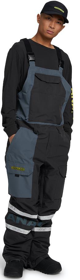 Analog Bib Unisex Snowboard/Ski Pants M Phantom/Dark Slate