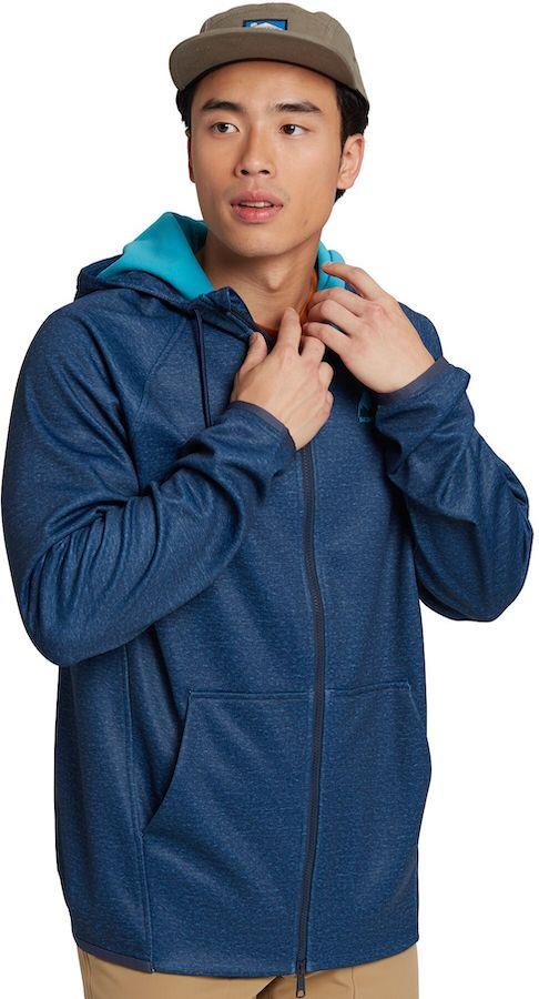 Burton Crown Weatherproof Full-Zip Hooded Fleece, M Dress Blue