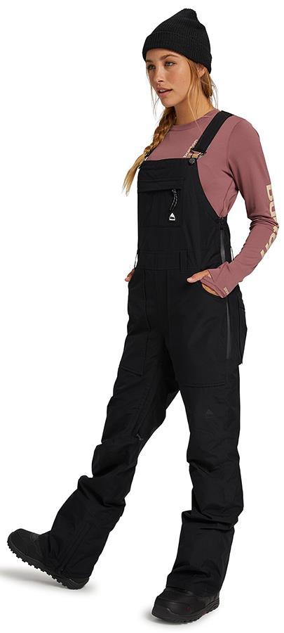 Burton Avalon Women's Snowboard/Ski Bib Pants, UK 10 True Black 2022