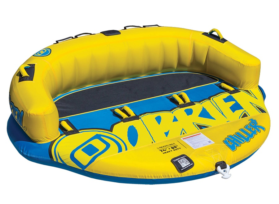 O'Brien Chiller Seated Towable Inflatable Tube, 3 Rider Yellow 2021