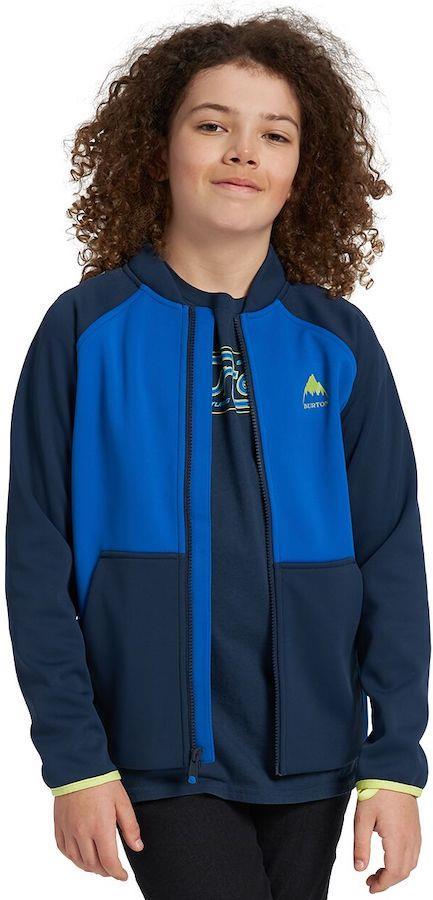 Burton Crown Weatherproof Track Jacket Kids Fleece Age 10 Dress Blue