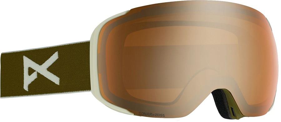 Anon M2 Sonar Bronze Ski/Snowboard Goggles, M/L Olive