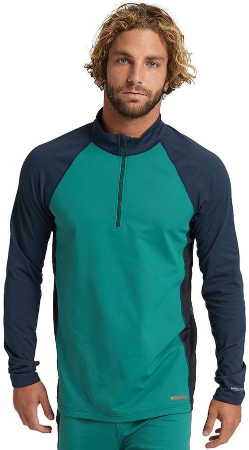Burton Heavyweight X 1/4 Zip Base Layer Fleece M Antique Green/Dress