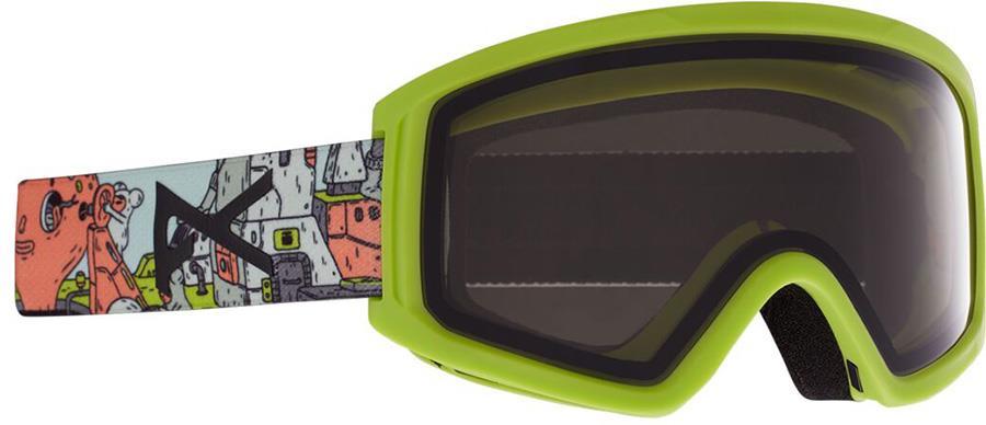 Anon Tracker 2.0 Smoke Kid's Ski/Snowboard Goggles, S/M Bot Green