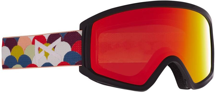 Anon Tracker 2.0 Red Solex Kid's Ski/Snowboard Goggles, S/M Rainbow