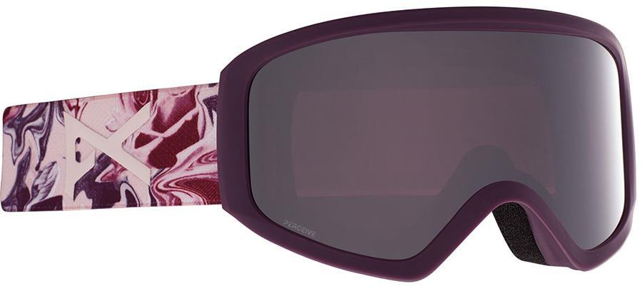 Anon Insight Perceive Onyx Women's Ski/Snowboard Goggles, S/M Wavy
