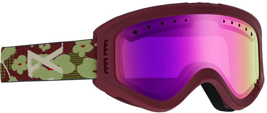 Anon Tracker Pink Amber Kid's Ski/Snowboard Goggles, S Flower