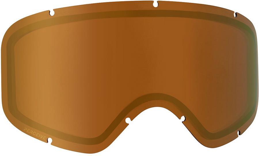 Anon Insight Ski/Snowboard Goggle Spare Lens, Perceive Sunny Bronze