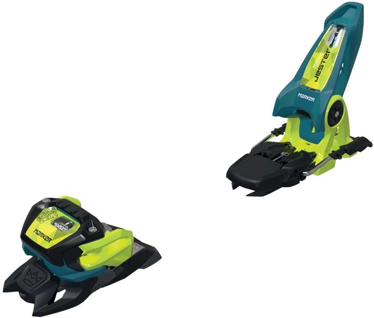 Marker Adult Unisex Jester 18 Pro Id Ski Bindings, 90mm Teal/Yellow