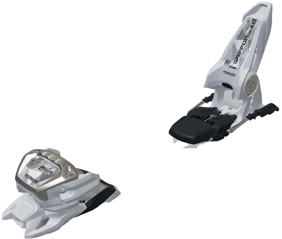 Marker Adult Unisex Griffon 13 Id Ski Bindings, 90mm White