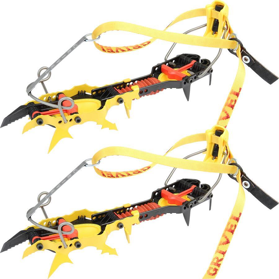 Grivel Rambo Evo 4 Mountaineering Crampon, UK 5.5-12.5 Yellow/Black