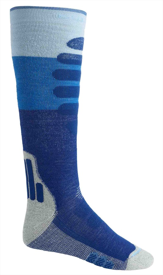 Burton Performance+ Midweight Merino Ski/Snowboard Socks, S Blue