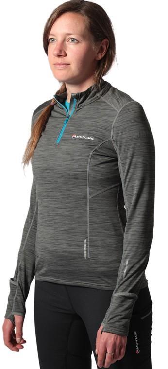 Montane Katla Pull-On Women's Running Top, UK 8 Grey