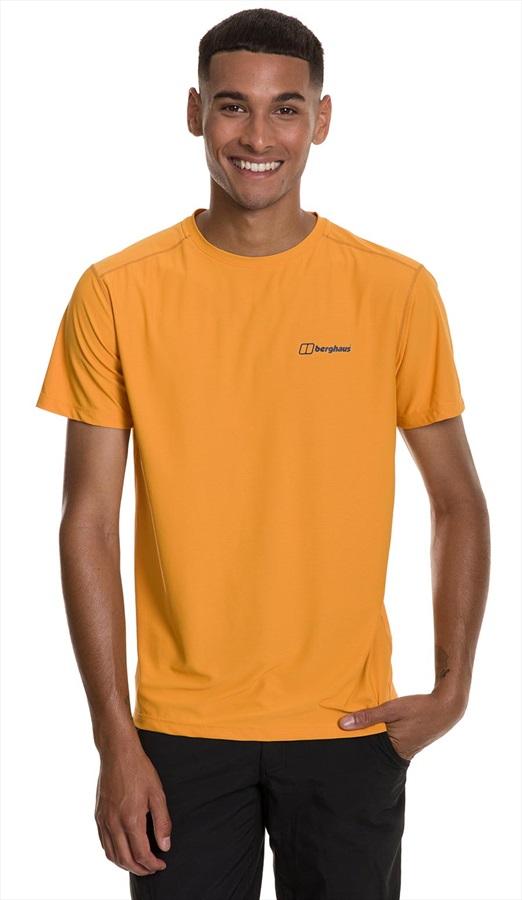 Berghaus 24/7 Tech Short Sleeve Baselayer Crew T-Shirt, S Sunflower