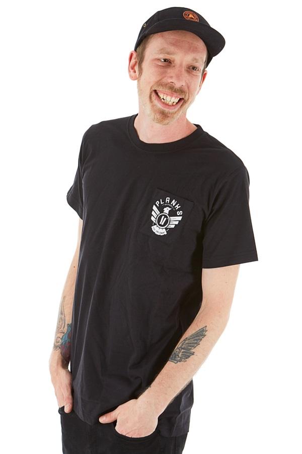 Planks Eagle Pocket T Shirt M Black