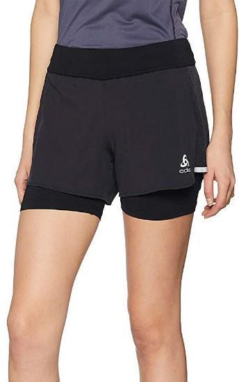 Odlo Zeroweight Ceramicool Pro Women's Running Shorts, S Black