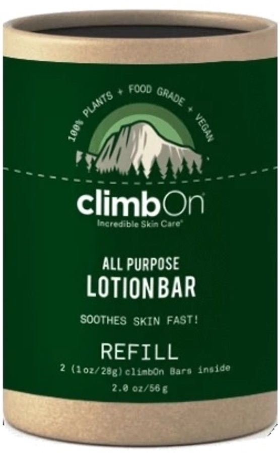 Climb On Lotion Bar Refill Pack Climbing Skin Care Balm, 56g