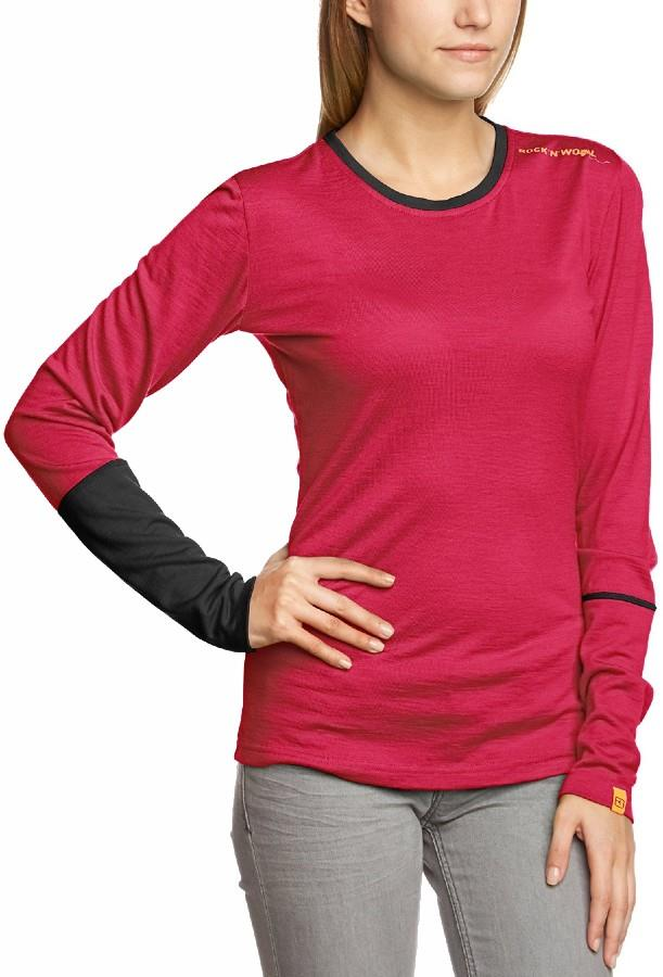 Ortovox Rock'n'Wool Women's Long Sleeve Merino Top L Very Berry