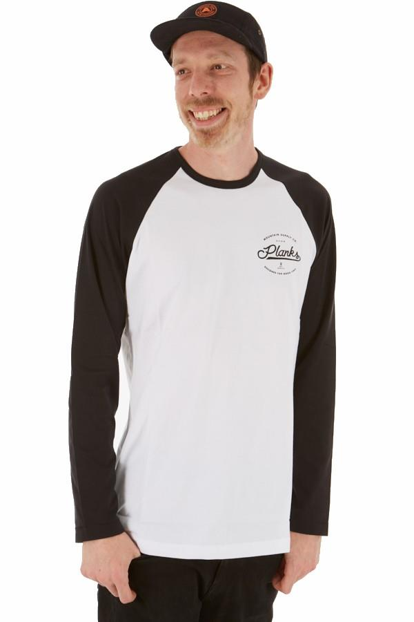 Planks Mountain Supply Co Long Sleeve T-Shirt M White