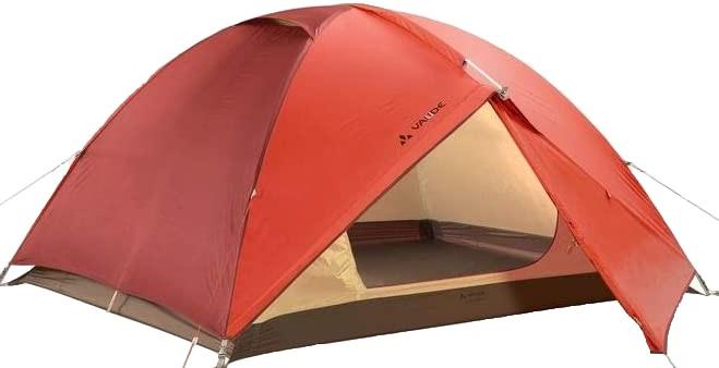 Vaude Campo Lightweight Hiking Tent + Footprint, 3 Man Terracotta