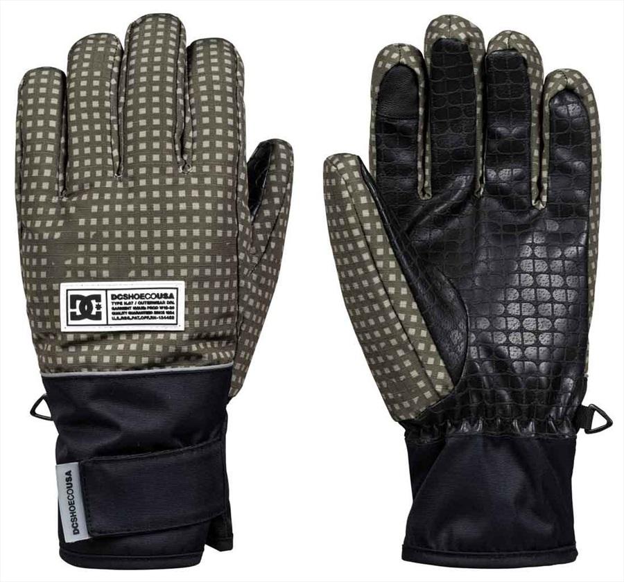 DC Franchise Ski/Snowboard Gloves, M Olive Desert Night Camo